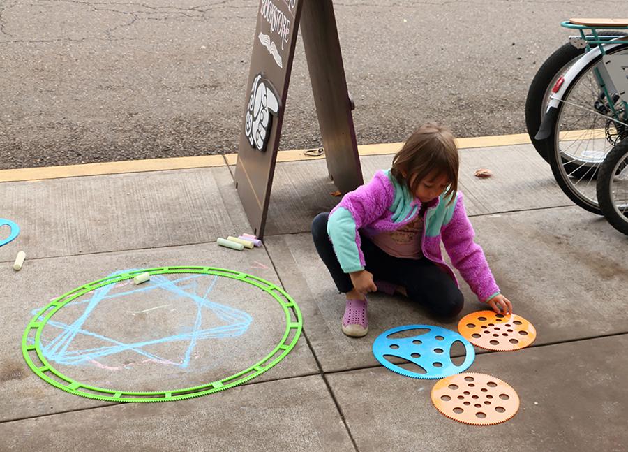 Scene from Public Math Day in St. Johns neighborhood of Portland in September