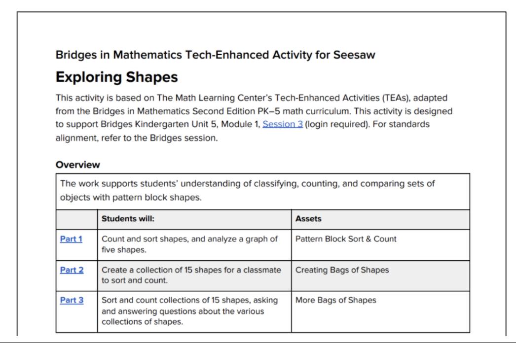 tech-enhanced activities for seesaw