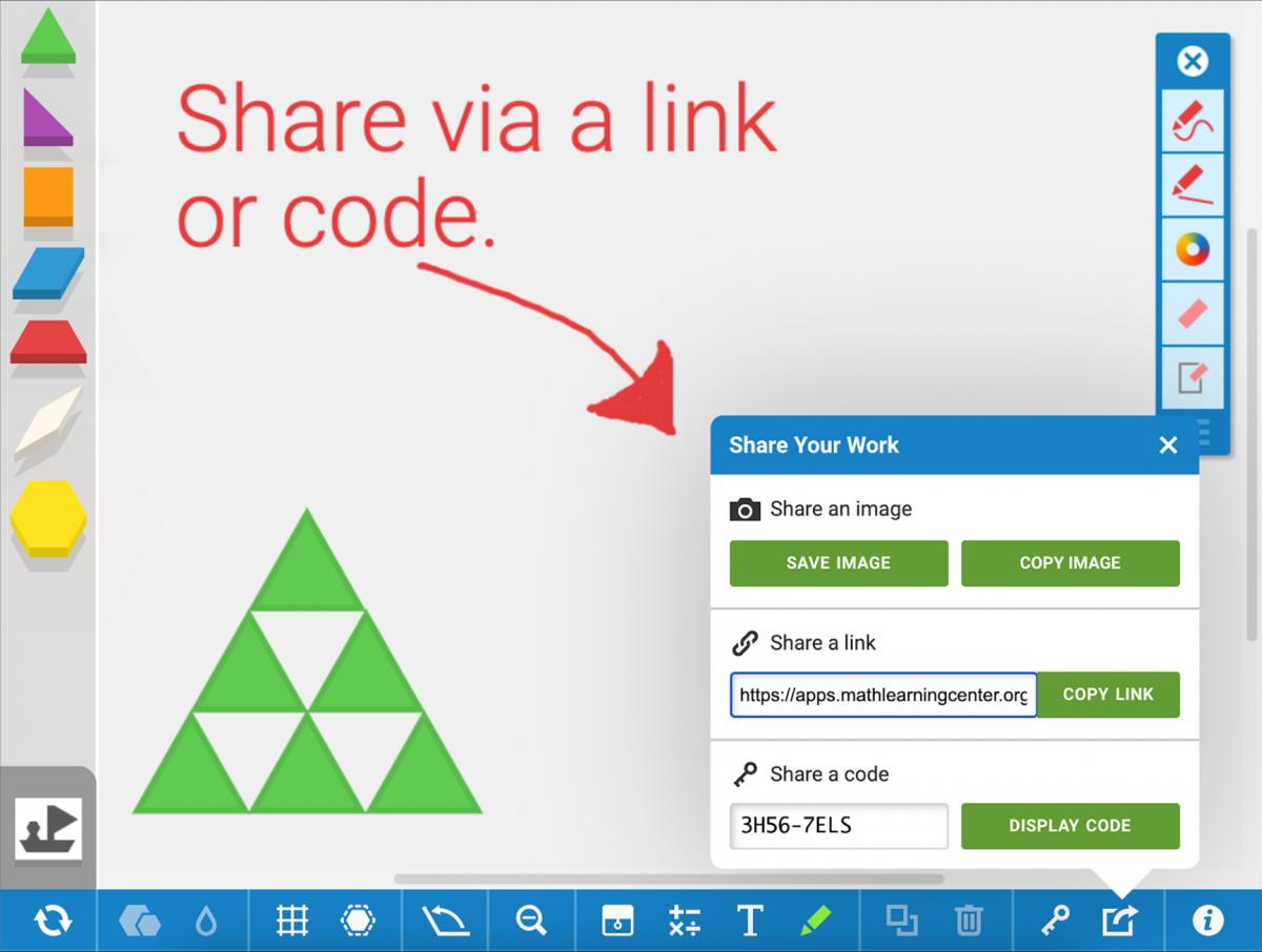 screenshot of pattern shapes app